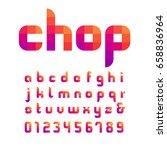 mosaic font. vector alphabet... | Shutterstock .eps vector #658836964