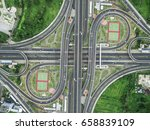 road traffic in city at... | Shutterstock . vector #658839109