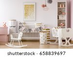 baby nursery with a crib and... | Shutterstock . vector #658839697