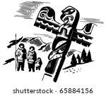totem pole   retro clipart...   Shutterstock .eps vector #65884156