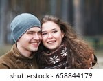 love story of beautiful happy... | Shutterstock . vector #658844179