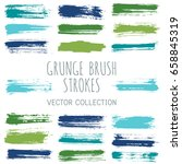 green and blue ink paint brush... | Shutterstock .eps vector #658845319