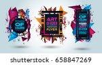 futuristic frame art design... | Shutterstock .eps vector #658847269