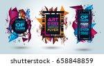 futuristic frame art design... | Shutterstock . vector #658848859