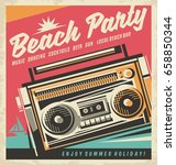Beach Party Retro Poster Desig...