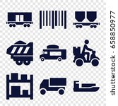 delivery icons set. set of 9... | Shutterstock .eps vector #658850977