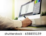 product designer working. all... | Shutterstock . vector #658855159