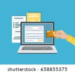 online payment concept. payment ... | Shutterstock .eps vector #658855375