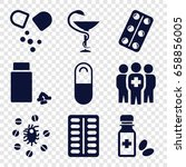 cure icons set. set of 9 cure... | Shutterstock .eps vector #658856005