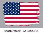 grunge american flag.vector... | Shutterstock .eps vector #658856311