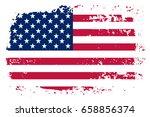 grunge american flag.vector... | Shutterstock .eps vector #658856374