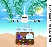 vector summer party poster... | Shutterstock .eps vector #658859071