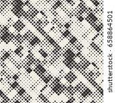 modern stylish halftone texture.... | Shutterstock .eps vector #658864501