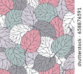 seamless pattern with forest... | Shutterstock .eps vector #658876591