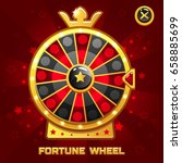 gold fortune wheel illustration ...
