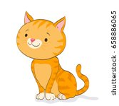funny little cat sitting and... | Shutterstock .eps vector #658886065