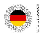 vector german school background ... | Shutterstock .eps vector #658888411
