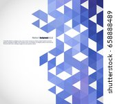background of geometric shapes. ... | Shutterstock .eps vector #658888489