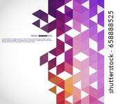 background of geometric shapes. ... | Shutterstock .eps vector #658888525