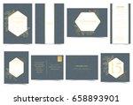 set of wedding invitation card. ... | Shutterstock .eps vector #658893901