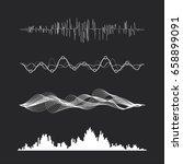 vector music sound waves set.... | Shutterstock .eps vector #658899091