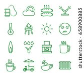 hot icons set. set of 16 hot... | Shutterstock .eps vector #658900885