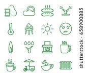 hot icons set. set of 16 hot... | Shutterstock .eps vector #658900885