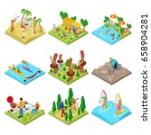 isometric outdoor activity.... | Shutterstock .eps vector #658904281