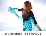 beautiful joyful mature woman... | Shutterstock . vector #658904371