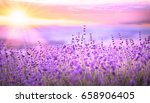 sunset sky over a violet... | Shutterstock . vector #658906405