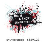 pink grunge sample text | Shutterstock .eps vector #6589123