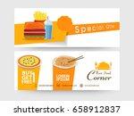 website header or banner set... | Shutterstock .eps vector #658912837