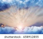 rays of light through the clouds | Shutterstock . vector #658912855