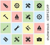 set of 16 editable mechanic... | Shutterstock .eps vector #658913149