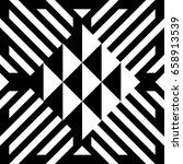 illusive tile with black white... | Shutterstock .eps vector #658913539