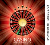 casino vector abstract... | Shutterstock .eps vector #658921735