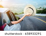 relaxed happy traveler  young... | Shutterstock . vector #658933291