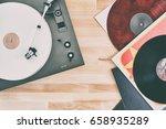 turntable vinyl record player ...   Shutterstock . vector #658935289