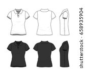female clothing set in white... | Shutterstock .eps vector #658935904