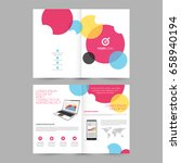 four pages brochure  template... | Shutterstock .eps vector #658940194