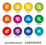 astrological signs of the... | Shutterstock .eps vector #658940509