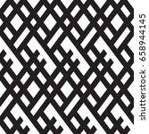 black and white geometric... | Shutterstock .eps vector #658944145