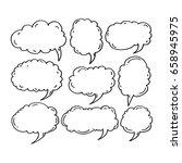 speech bubble hand drawn | Shutterstock .eps vector #658945975