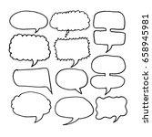 speech bubble hand drawn | Shutterstock .eps vector #658945981