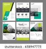 company flyer vector... | Shutterstock .eps vector #658947775