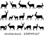 collection of silhouettes of... | Shutterstock .eps vector #658949167