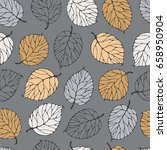 seamless pattern with forest... | Shutterstock .eps vector #658950904