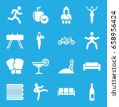 lifestyle icons set. set of 16... | Shutterstock .eps vector #658956424