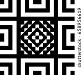 seamless tile with black white... | Shutterstock .eps vector #658956619