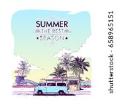 summer beach walkway. vector... | Shutterstock .eps vector #658965151